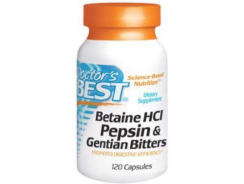 Betaine HCI Pepsin & Gentian Bitters (120 capsules)